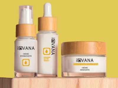 Flacons en verre pour les soins du corps naturels de chez iovana